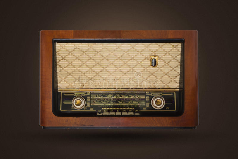 Vieille radio de cru images stock