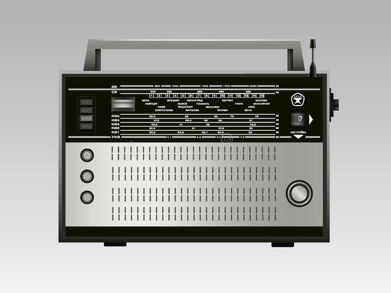 Vieille radio russe images stock