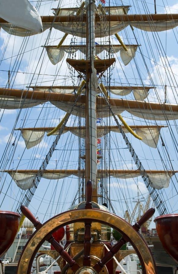 Vieille roue de bateau image libre de droits