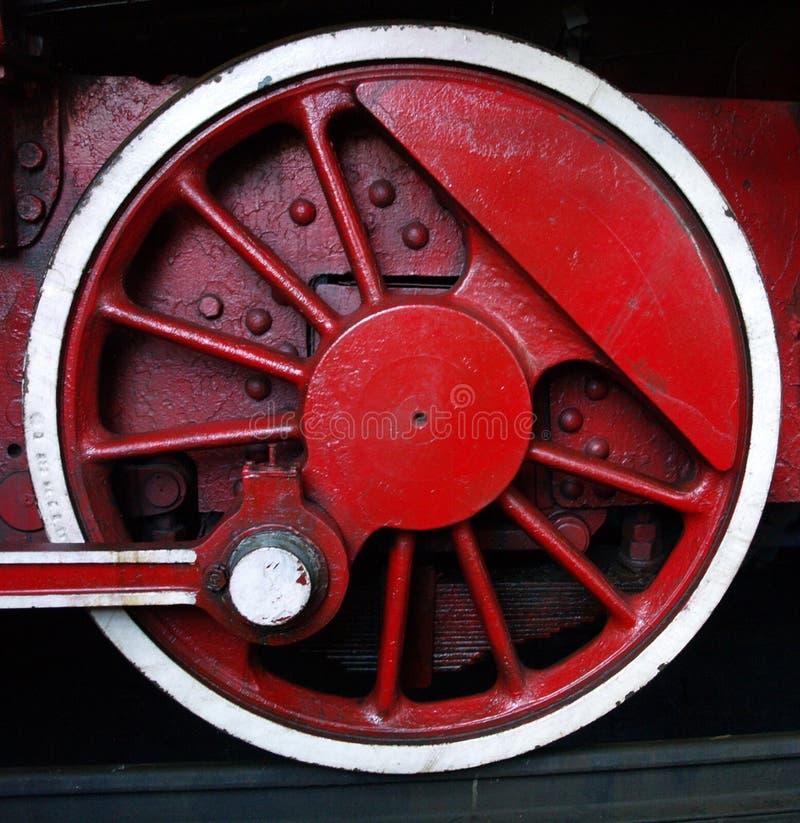 Vieille roue de train photo stock