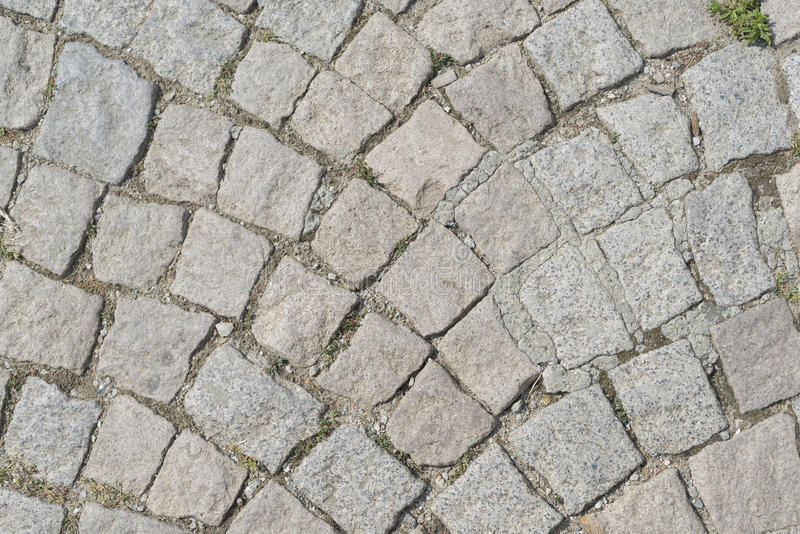 Vieille route de bloc de pavé images libres de droits