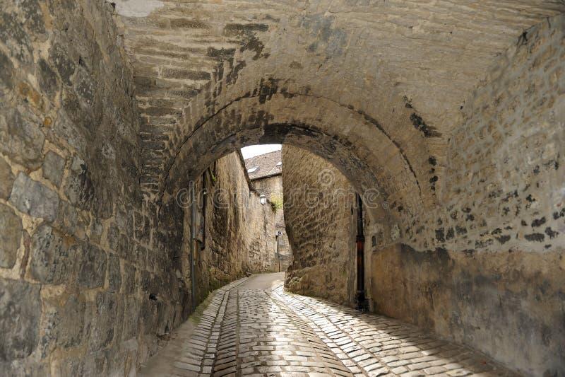 Vieille rue à Besançon, Franche-Comt? image stock