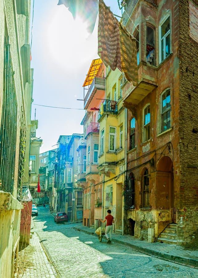 Vieille rue d'Istanbul - secteur de Phanar photo stock