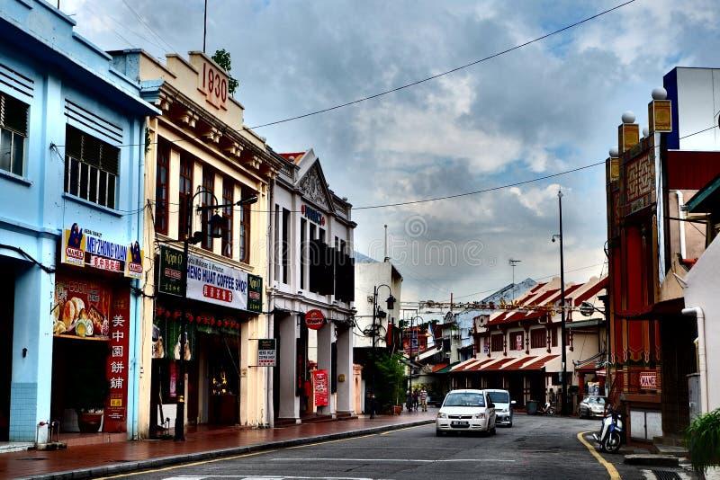 Vieille rue dans Melaka image libre de droits