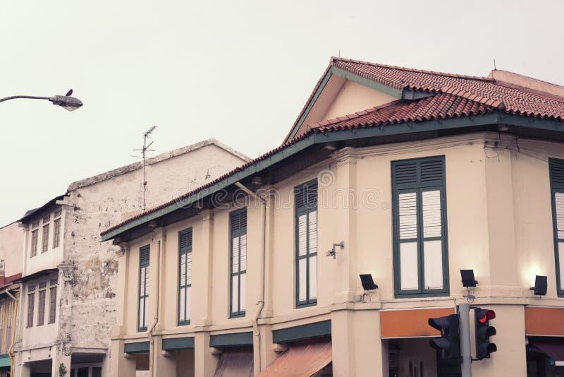 Vieille rue de bâtiments photos stock