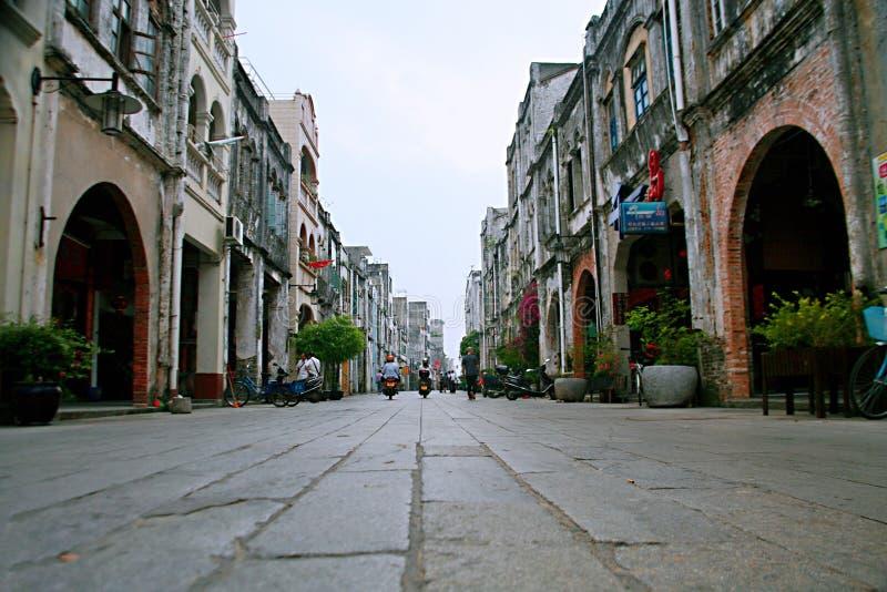 Vieille rue de Beihai, Guangxi photo libre de droits