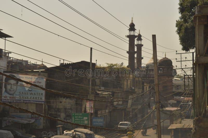 Vieille rue de Bhopal de ville image stock