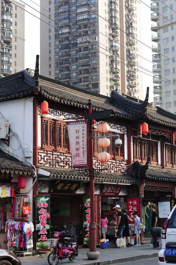 Vieille rue de Changhaï images libres de droits