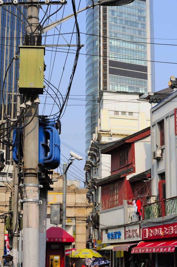 Vieille rue de Changhaï image stock