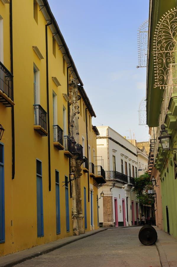Vieille rue de la Havane photos libres de droits