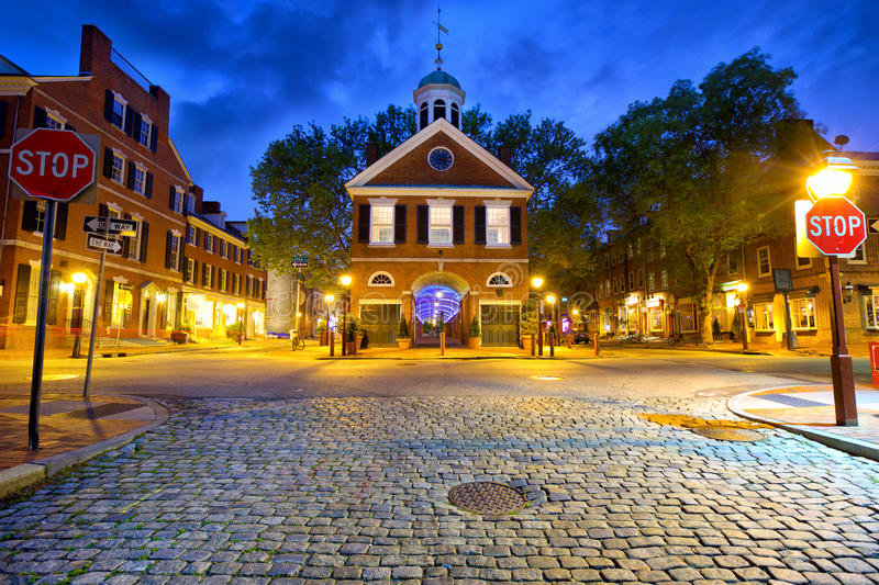 Vieille rue de Philadelphie photo stock