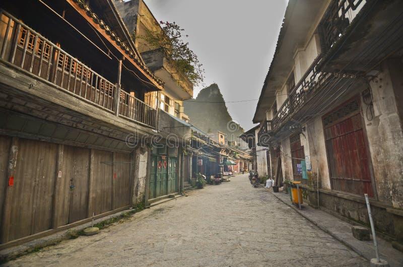 Vieille rue de Xingping image libre de droits