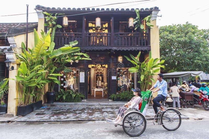 Vieille rue Hoi An, Vietnam image stock