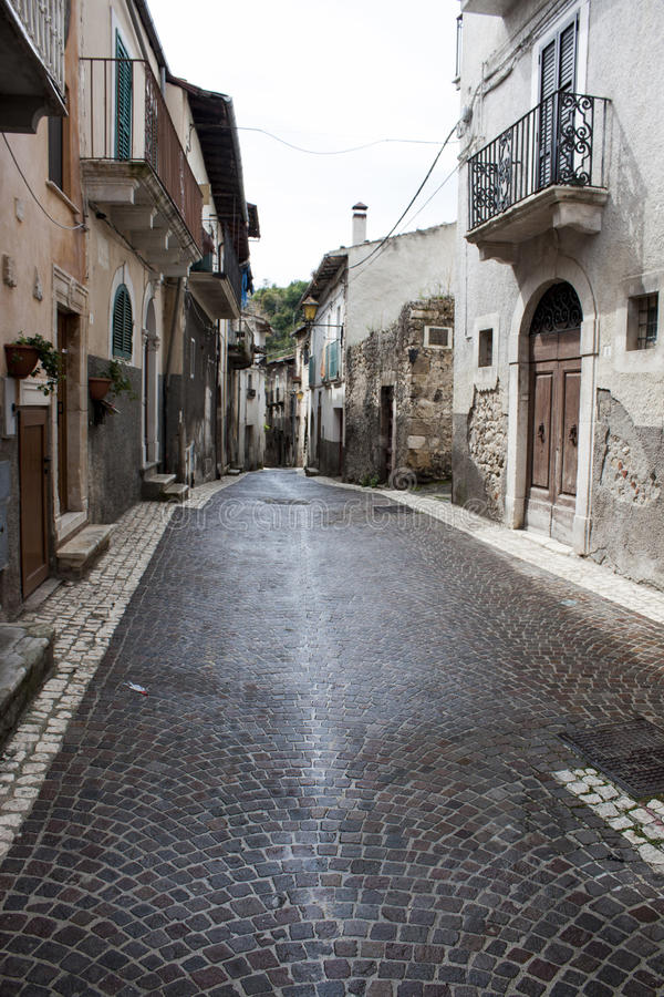 Vieille rue italienne de ville photo stock