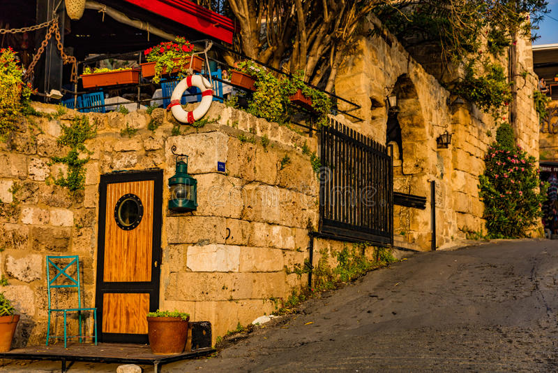 Vieille rue Liban de Byblos Jbeil images stock