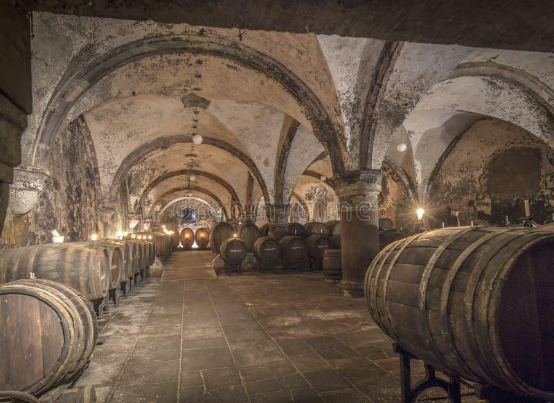 Vieille serre à raisin dans Eberbach photo stock