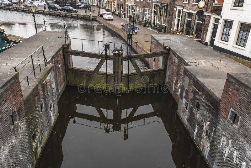 Vieille serrure néerlandaise chez Spaarndam images libres de droits