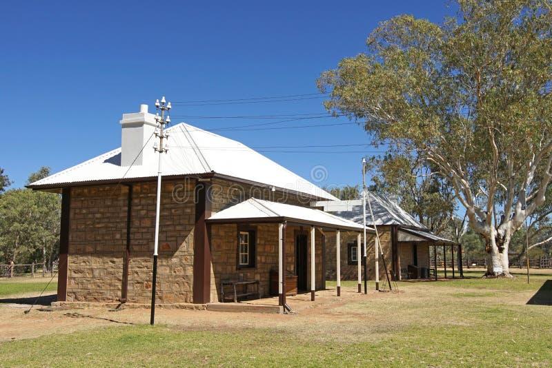 Vieille station de télégraphe, Alice Springs, Australie images stock