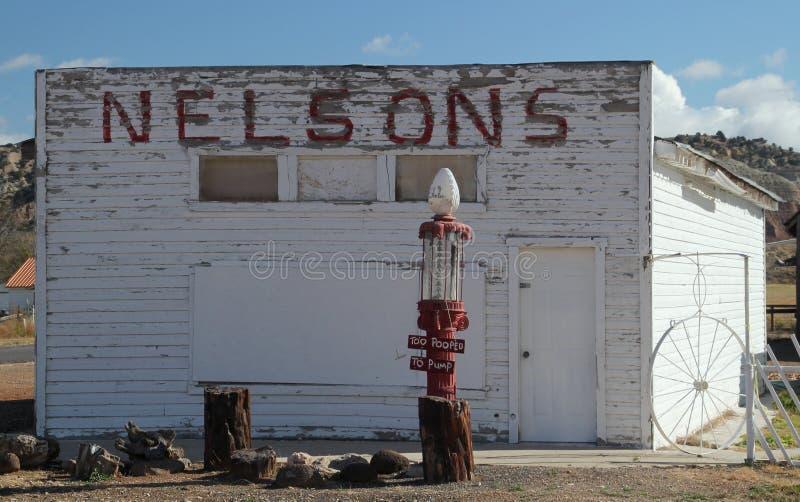 Vieille station service chez Cannonville photos libres de droits