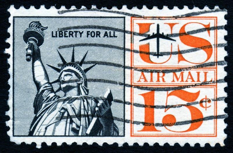 Vieille statue d'estampille de liberté image libre de droits