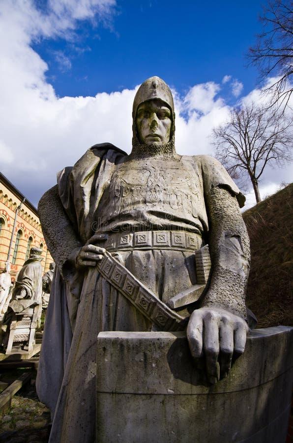 Vieille statue de guerrier à Berlin, Allemagne photo libre de droits