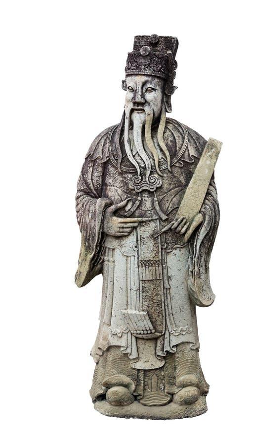 Vieille statue de sage photo libre de droits