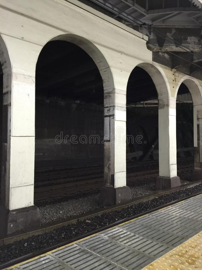 Vieille structure de station photographie stock