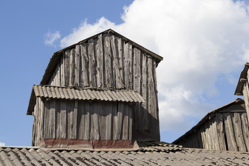 vieille superstructure en bois photographie stock libre de droits