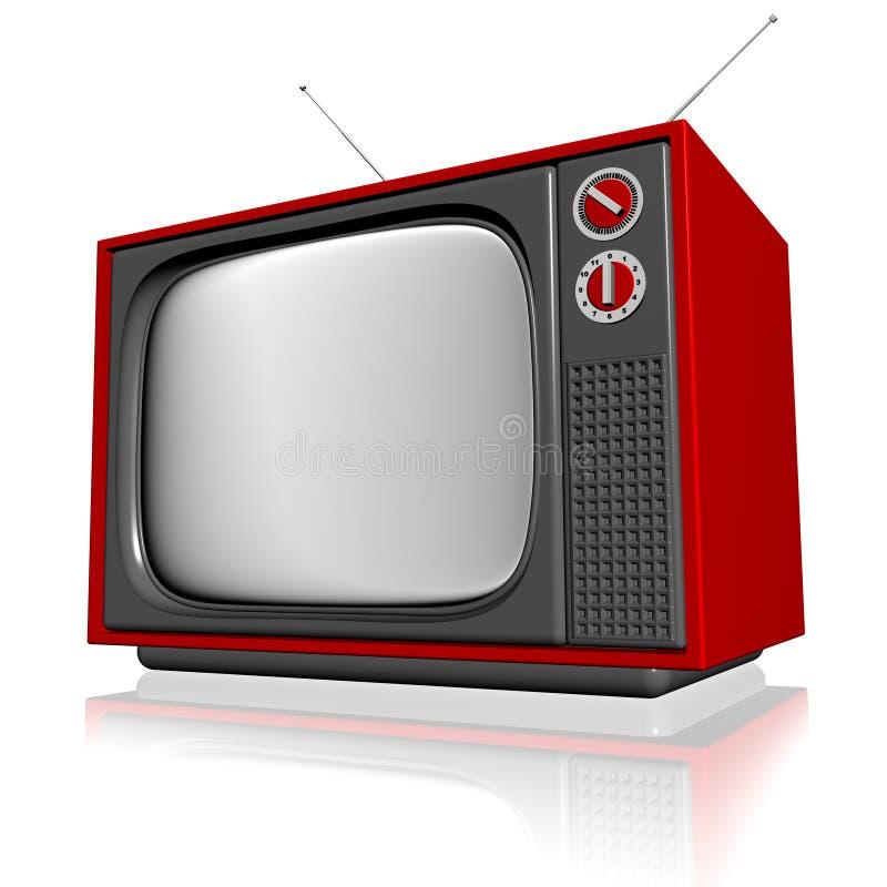 Vieille télévision 3d illustration libre de droits
