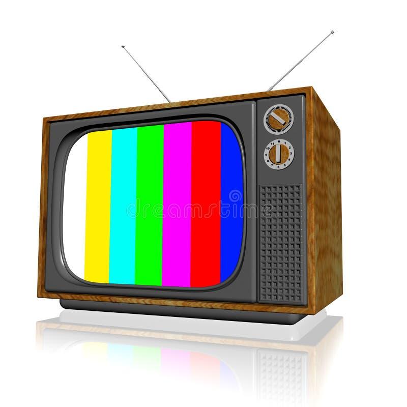 Vieille télévision 3d illustration de vecteur