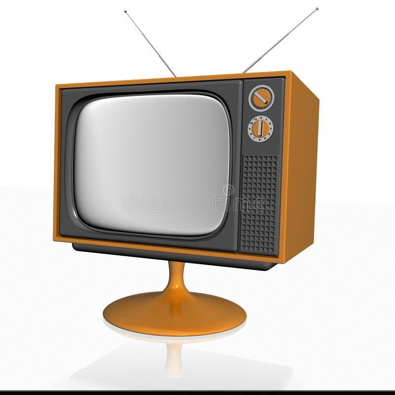 Vieille télévision 3d illustration stock