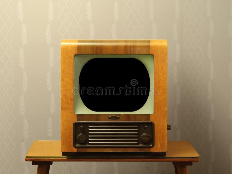 Vieille télévision d'années '50 photos libres de droits