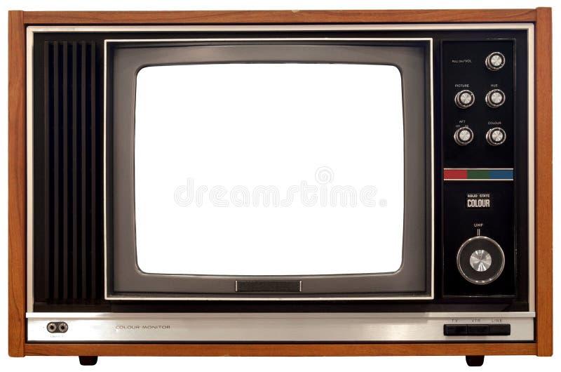 Vieille télévision en couleur photographie stock libre de droits