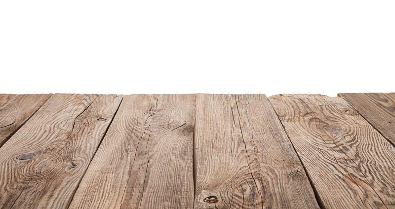 Vieille table en bois d'isolement sur le fond blanc photos libres de droits