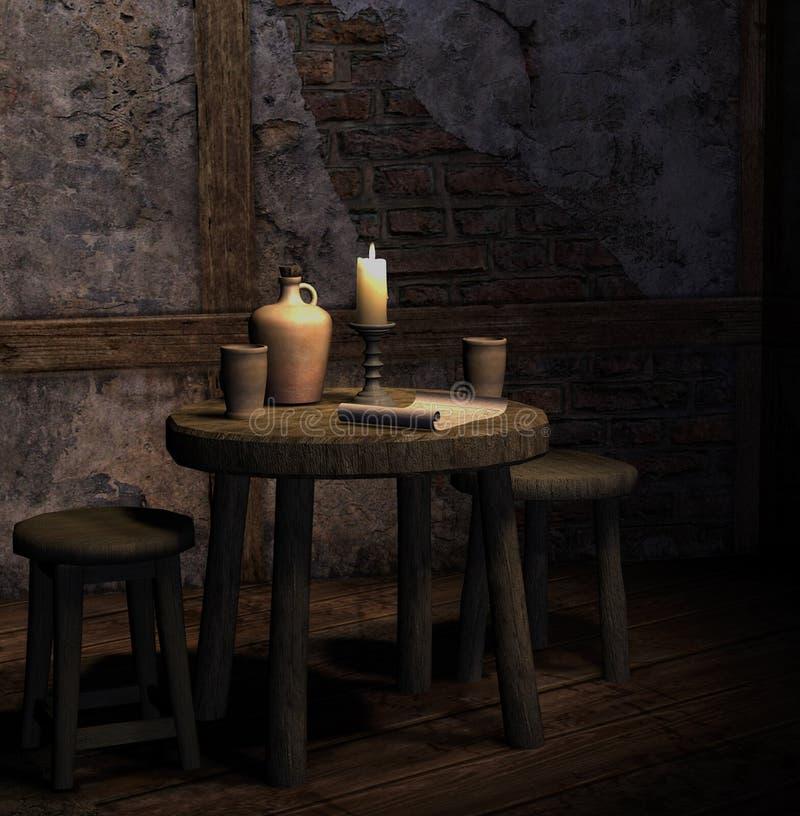 Vieille taverne illustration libre de droits