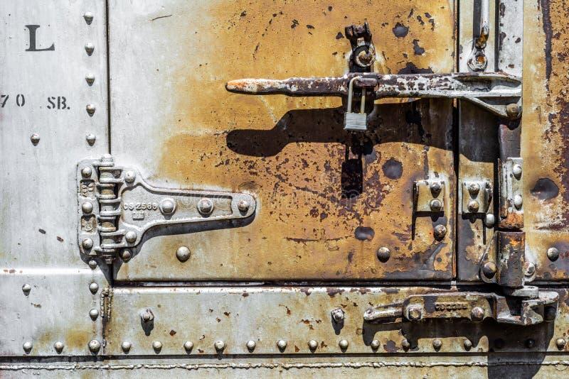 Vieille texture argentée rouillée de fond en métal photo stock