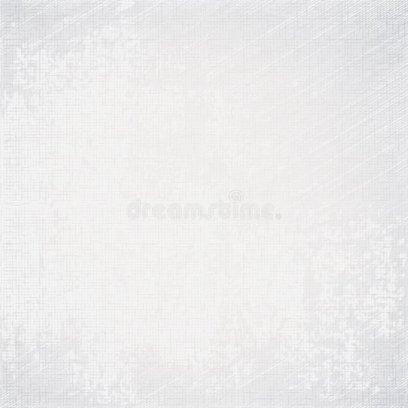 Vieux fond blanc de grunge de texture de toile illustration libre de droits