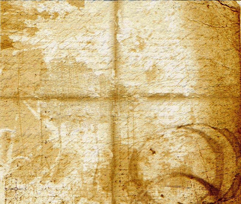 Vieille texture chiffonnée illustration de vecteur
