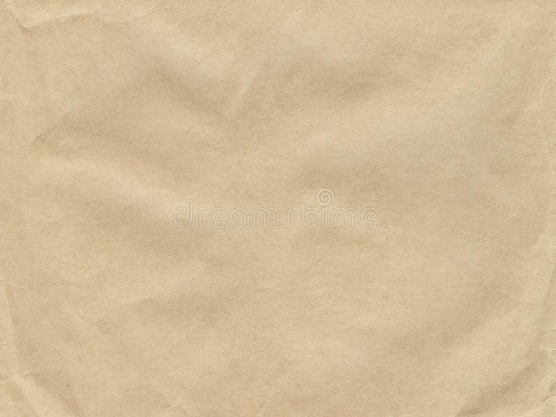 Vieille texture chiffonnée de papier brun photographie stock