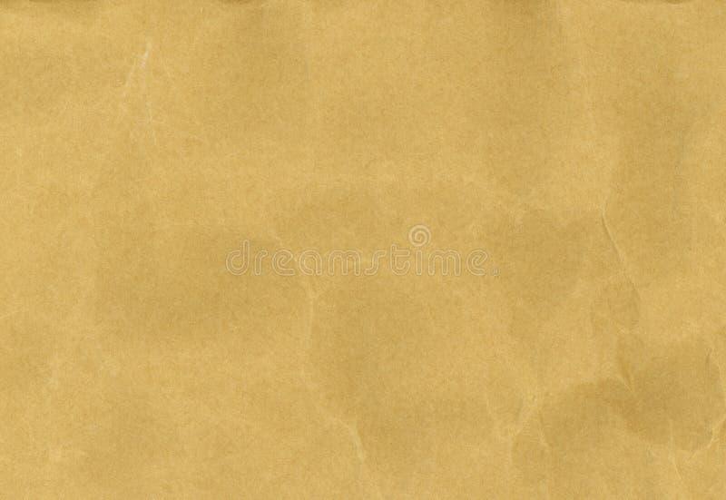 Vieille texture chiffonn?e de papier brun photos libres de droits