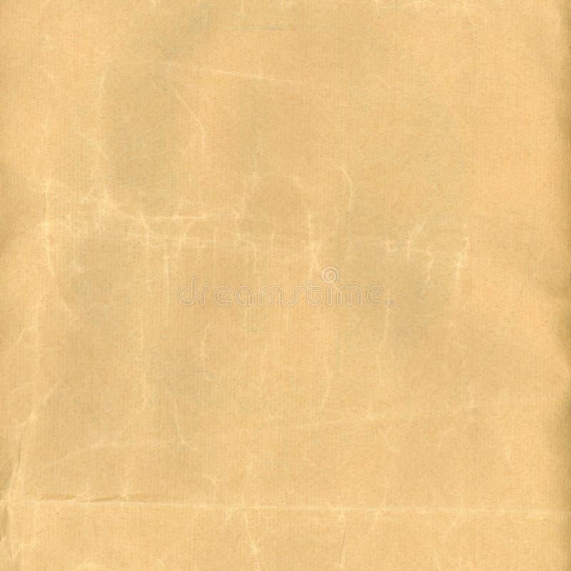 Vieille texture chiffonn?e de papier brun image libre de droits