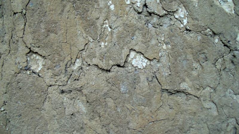Vieille texture criquée abstraite de mur Texture de mur d'argile photographie stock