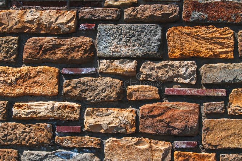 Vieille texture de mur de briques à un arrière-plan images libres de droits