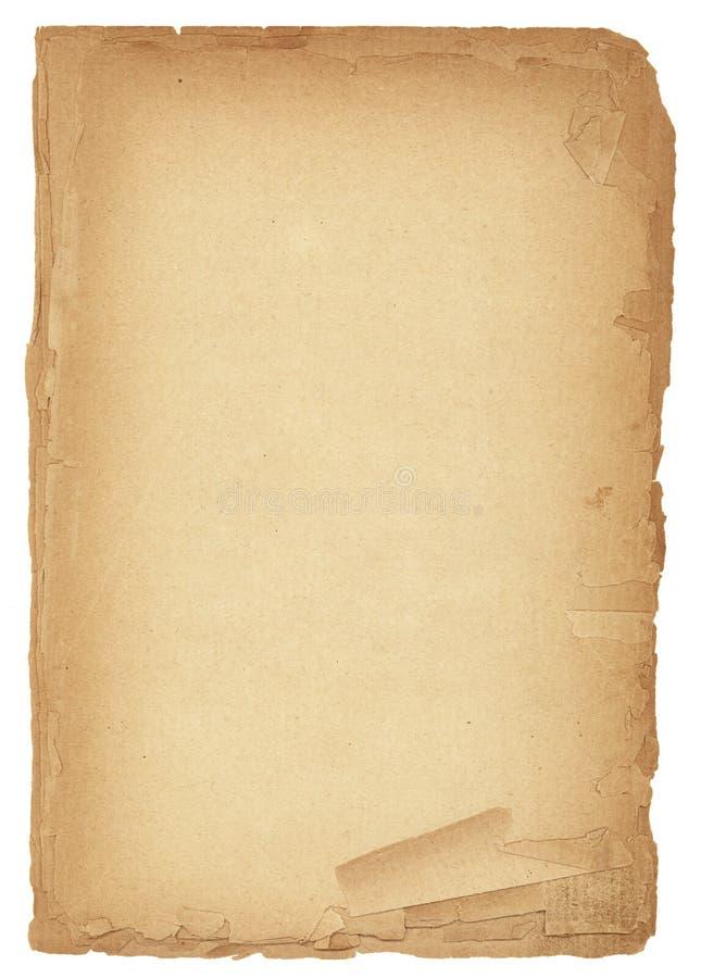 Vieille texture de papier antique de XL photos libres de droits