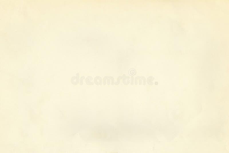 Vieille texture de papier rouillée superficielle par les agents beige légère de parchemin de cru photo stock