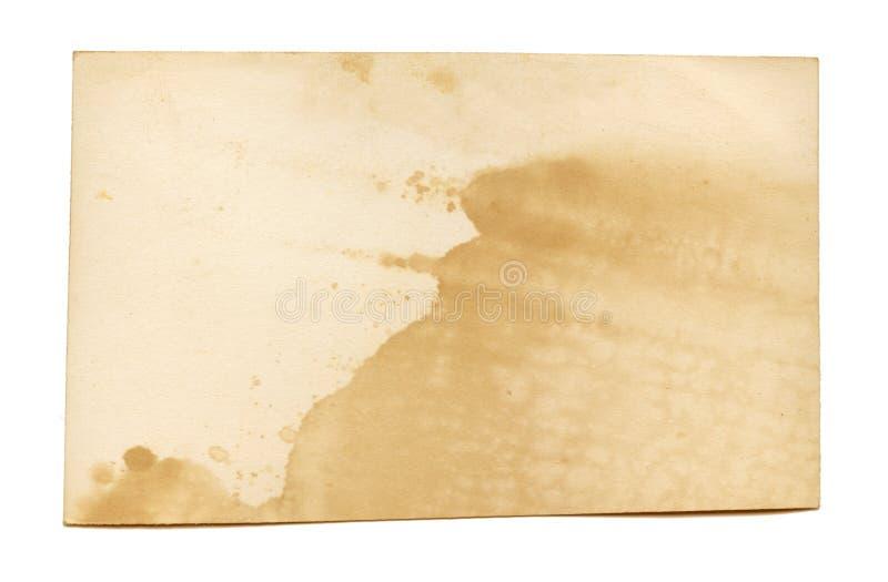 Vieille texture de photo avec des taches et des éraflures Rétro papier vide image libre de droits