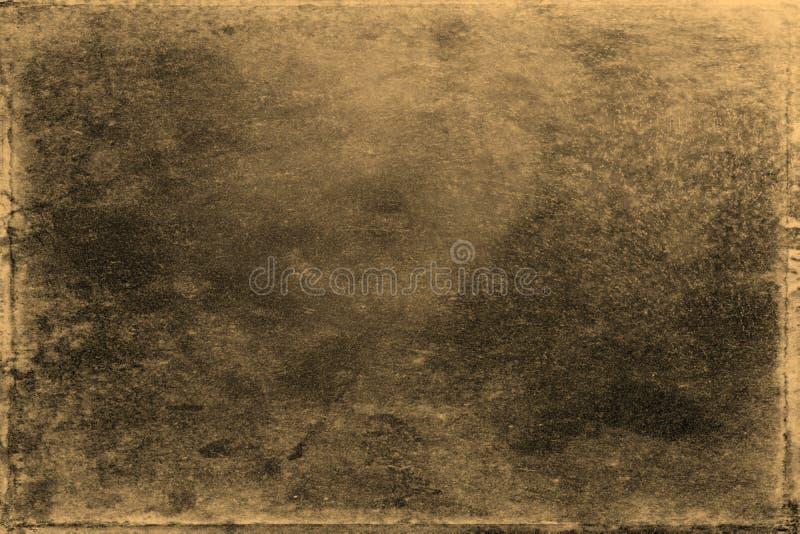 Vieille texture de photo avec des taches et des ?raflures Concept d'art de vintage et d'antiquit? Vue de face de vieux cadre sale images stock