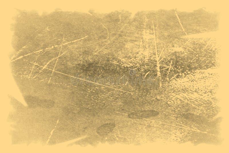 Vieille texture de photo avec des taches et des ?raflures Concept d'art de vintage et d'antiquit? Vue de face de vieux cadre sale photographie stock