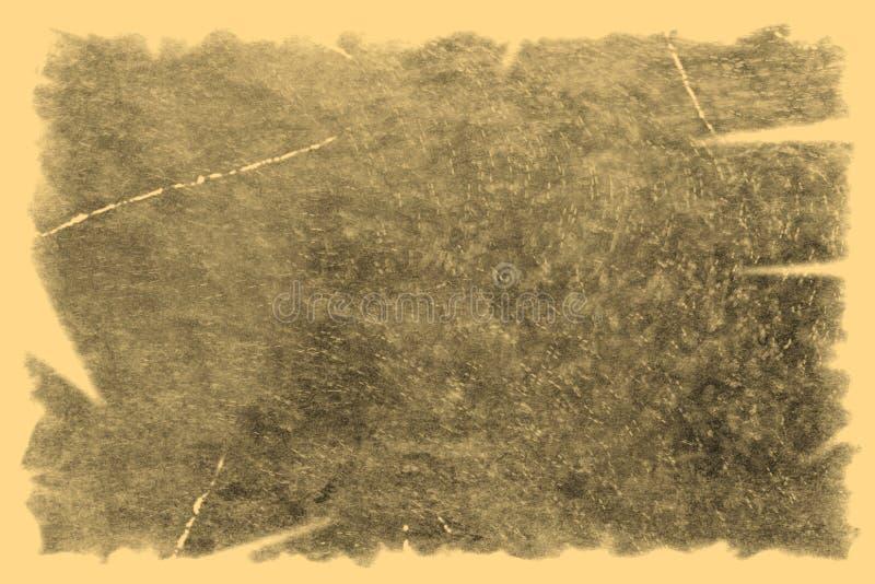 Vieille texture de photo avec des taches et des ?raflures Concept d'art de vintage et d'antiquit? Vue de face de vieux cadre sale image stock
