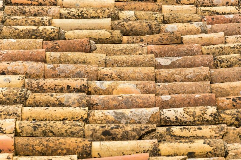 Vieille texture de toit de tuile photos stock